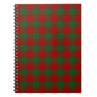 Red and Green Gingham Pattern Spiral Notebooks