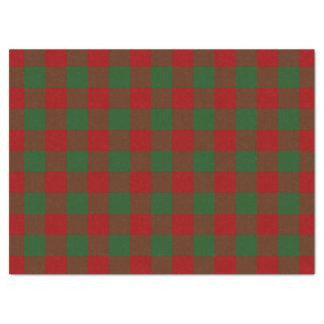 """Red and Green Gingham Pattern Tissue Paper 17"""" X 23"""" Tissue Paper"""