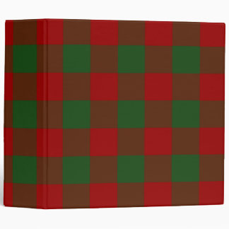 Red and Green Gingham Pattern Vinyl Binders
