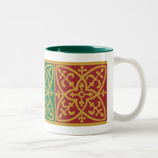 Red and Green Gothic Holiday Coffee Mug