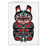 Red and Green Haida Spirit Bear Cards