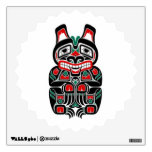 Red and Green Haida Spirit Bear Room Graphics