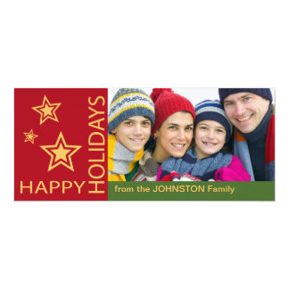 Red and Green Happy Holidays Photo Template