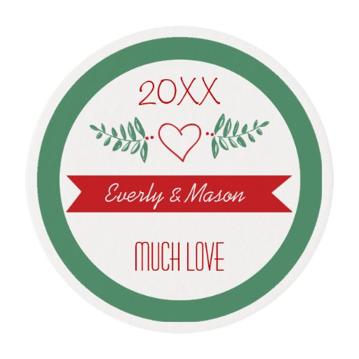 Red and Green Have Yourself Merry Little Christmas Edible Frosting Rounds