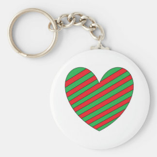 red and green heart keychains