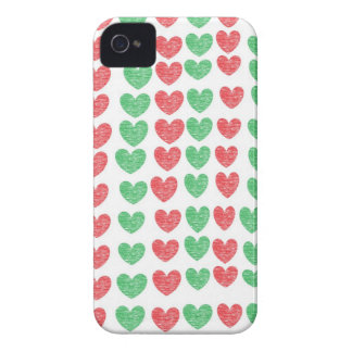 Red and Green Hearts iPhone Case