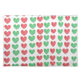 Red and Green Hearts Placemat
