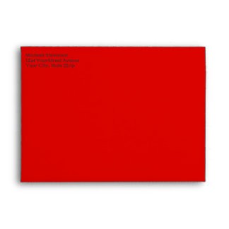 Red and Green Holiday Candy Canes Envelope