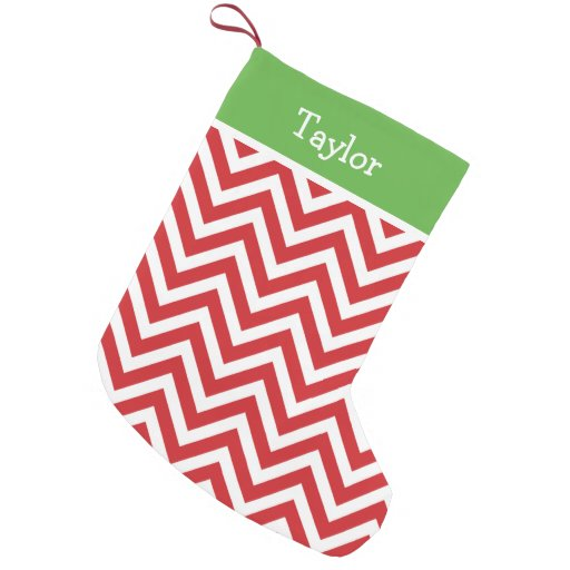 Red and Green Holiday Chevron...
