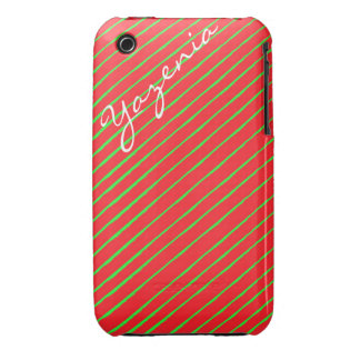 Red and Green iPhone Case