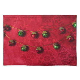 Red and Green Jingle Bells Placemat