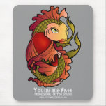 Red and Green Koi Fish Mouse Pad