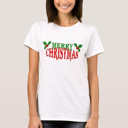 Red and Green Merry Christmas T-shirt