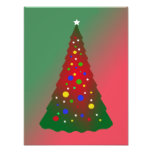 Red and Green Merry Christmas Tree Photo Print