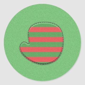 Red and Green Mitten Envelope Seals
