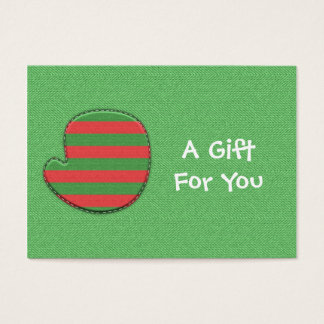 Red and Green Mitten Gift Tags