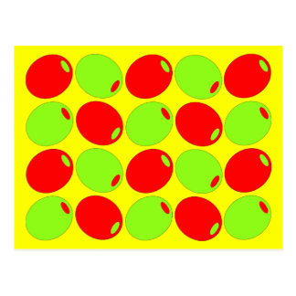 Red And Green Olives Postcard