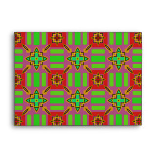 Red and Green Pattern Envelope