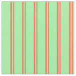 [ Thumbnail: Red and Green Pattern Fabric ]