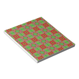 Red and Green Pattern Scrapbook Paper Notepads
