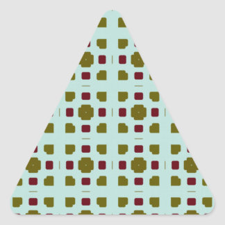 Red and Green Pattern Triangle Sticker