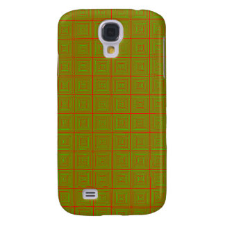 Red and green patterned optical deign samsung galaxy s4 cover