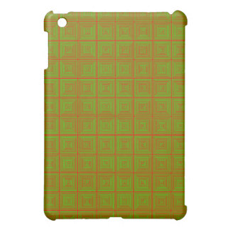 Red and green patterned optical deign iPad mini case
