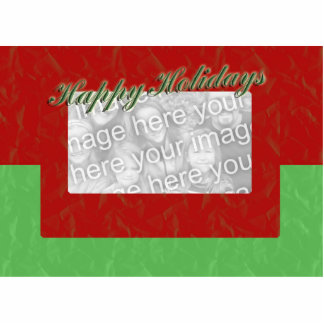 Red and Green Photo Frame Cutout