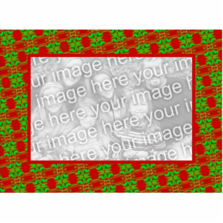Red and Green Photo Frame Statuette