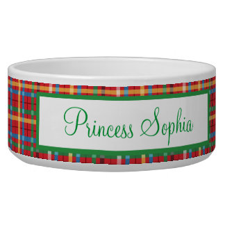 Red and Green Plaid Bowl