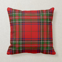 Red and Green Plaid Christmas Pillow