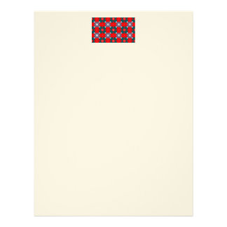 Red and Green Plaid Custom Letterhead