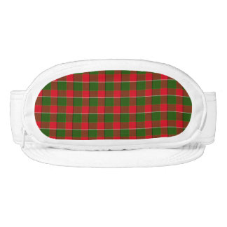 Red And Green Plaid Fabric Background Visor