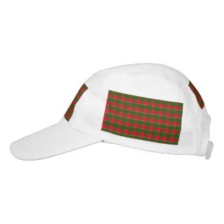 Red And Green Plaid Fabric Background Headsweats Hat