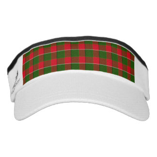 Red And Green Plaid Fabric Background Headsweats Visor