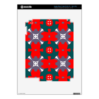 Red and Green Plaid iPad 3 Decal