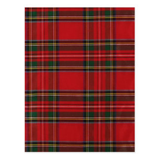 Red and Green Plaid items Postcard