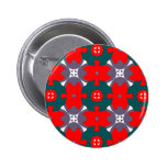 Red and Green Plaid Pinback Buttons