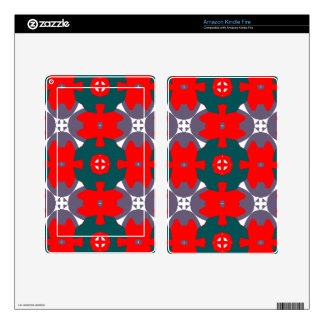 Red and Green Plaid Skin For Kindle Fire