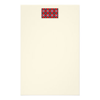 Red and Green Plaid Stationery Design
