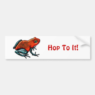 Red and Green Poison Dart Frog Bumper Sticker