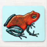 Red and Green Poison Dart Frog Mouse Pad