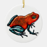 Red and Green Poison Dart Frog Ornament