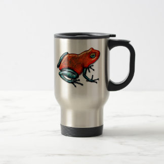 Red and Green Poison Dart Frog Travel Mug