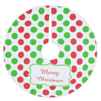 Polka Dots Christmas Tree Skirts | Zazzle