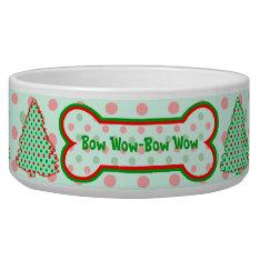 Red And Green Polka Dot Tree Bowl at Zazzle