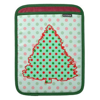 Red and Green Polka Dot Tree iPad Sleeve
