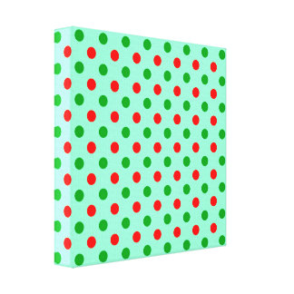 Red and Green Polka Dots Canvas Print