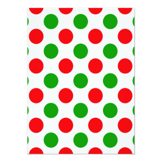 Red and Green Polka Dots Card