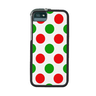 Red and Green Polka Dots iPhone 5/5S Cover